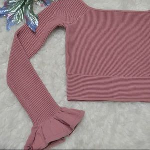 Ribbed Long Sleeve Crop Top